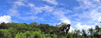 Beautiful and stunning high resolution panorama of landscape views on the Seychelles island royalty free stock photos
