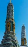 Beautiful Stupa. Temple Wat Pho in Bangkok, Thailand. Stock Photo