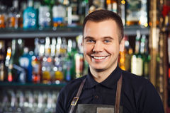 Beautiful stylish bartender Royalty Free Stock Photo