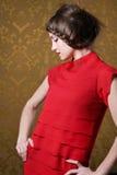 Beautiful stylish brunette woman Royalty Free Stock Photo