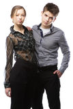 Beautiful stylish couple Royalty Free Stock Photography