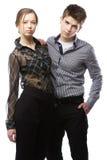 Beautiful stylish couple Royalty Free Stock Photography