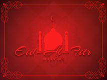 Beautiful stylish Eid Al Fitr mubarak background design. Stock Photos