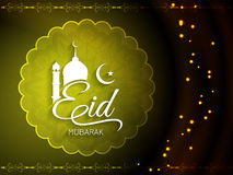 Beautiful stylish Eid mubarak background design. Royalty Free Stock Photo