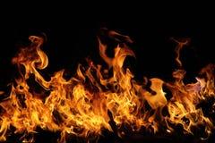 Beautiful Stylish Fire Flames Stock Image
