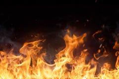 Beautiful stylish fire flames Stock Photography