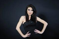 Beautiful stylish girl with additional lash Stock Images