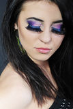 Beautiful stylish girl with additional lash Royalty Free Stock Photography