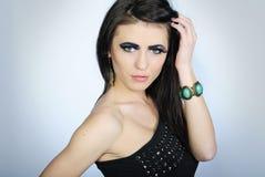 Beautiful stylish girl with additional lash Royalty Free Stock Images