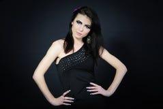 Beautiful stylish girl with additional lash Stock Photography