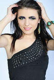 Beautiful stylish girl with additional lash Royalty Free Stock Image