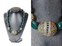 Beautiful stylish handmade female vintage fashion colorful jewel Stock Photos