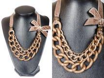 Beautiful stylish handmade female vintage fashion colorful jewel Royalty Free Stock Image