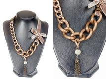 Beautiful stylish handmade female vintage fashion colorful jewel royalty free stock photos