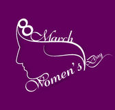 Beautiful stylish happy women's day colorful card background ill Royalty Free Stock Images