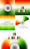 Beautiful stylish indian flag collection. Presentation republic day tricolor  illustration Royalty Free Stock Photos