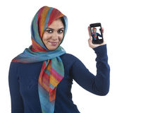 Beautiful stylish islamic girl wearing hijab with Royalty Free Stock Image