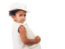 Beautiful stylish little girl royalty free stock photo