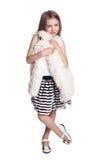 Beautiful stylish little girl Royalty Free Stock Photography