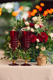 Beautiful stylish luxury decoration with flower candlestick table. Beautiful stylish luxury decoration with flower candlestick on wedding table Stock Photo