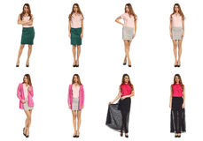Beautiful stylish model in skirt isolated concept Royalty Free Stock Photography