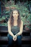 Beautiful stylish modern young woman Stock Images