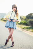 Beautiful stylish photographer Stock Photo