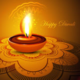 Beautiful stylish rangoli happy diwali colorful fe Royalty Free Stock Images