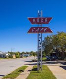 Beautiful and stylish Rock Cafe at Route 66 in Oklahoma - STROUD - OKLAHOMA - OCTOBER 16, 2017. Photography Stock Photo