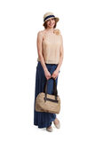 Beautiful stylish woman with a bag Royalty Free Stock Photo