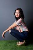 Beautiful stylish woman posing Royalty Free Stock Image