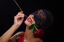 Free Beautiful, Stylish Woman Wearing A Black Lace Veil Royalty Free Stock Image - 32771466