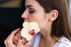 Beautiful stylish woman wearing jewelry. Closeup shoot of beautiful stylish woman wearing a set of jewelry royalty free stock photos