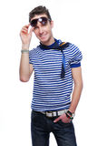 Beautiful stylish young guy Royalty Free Stock Image