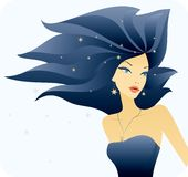 Beautiful stylish young woman. Vector illustration of beautiful stylish young woman Vector Illustration
