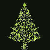 Beautiful stylized christmas tree Stock Photography