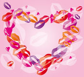 Heart lips Stock Photography