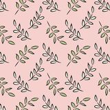 A Beautiful Stylized Leaf Collection with a Pink Background. royalty free stock image