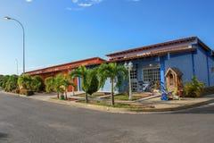 Beautiful suburban houses in Cumana city. State Sucre in Venezuela royalty free stock photos