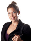 Beautiful succesful businesswoman smiling at you Royalty Free Stock Photo