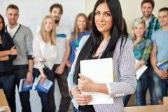Beautiful success student Stock Images