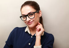 Beautiful successful business woman in glasses Royalty Free Stock Image