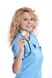 Beautiful successful nurse doctor - Healthcare workers Stock Photos