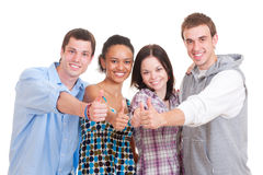 Beautiful successful students Royalty Free Stock Image