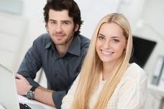 Beautiful successful young businesswoman Stock Photos