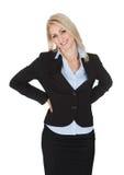 Beautiful sucessful businesswoman Stock Image