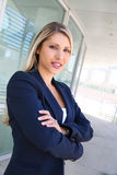 Beautiful sucessful businesswoman with folded arms Stock Images