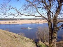 Beautiful Sudargo mound near river Nemunas, Lithuania Stock Photos