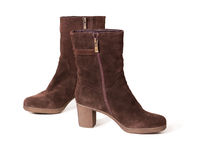 Suede boots Stock Image