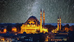 The beautiful Suleymaniye mosque in Istanbul, Turkey stock video